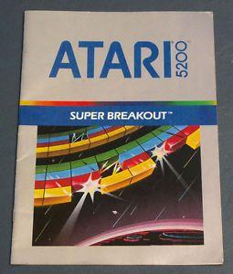 atari 5200 super breakout | Super Breakout Video Game Instruction Manual 1982 for Atari 5200 Super ...