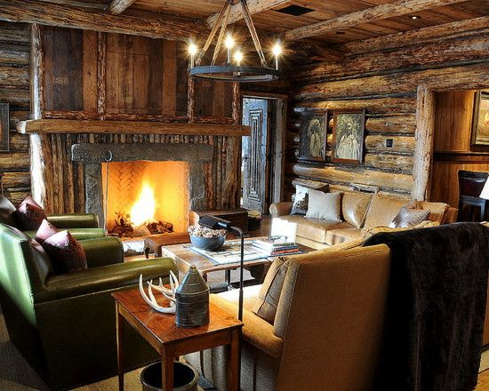 Ski lodge traditional interior design cabin pinterest for Ski cottage