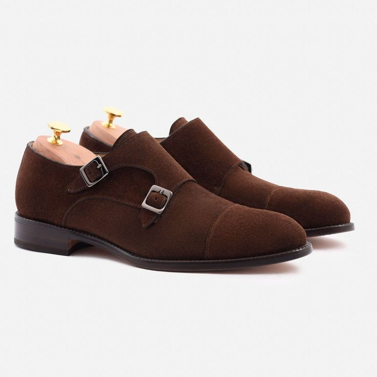 Hoyt Monk-Strap - Water Repellent Suede - Brown
