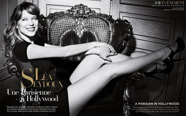 Léa Seydoux, a Parisian in Hollywood | Paris Worldwide by Aéroports de Paris  http://en.parisworldwide.com/trends/personalities/lea-seydoux-parisian-hollywood
