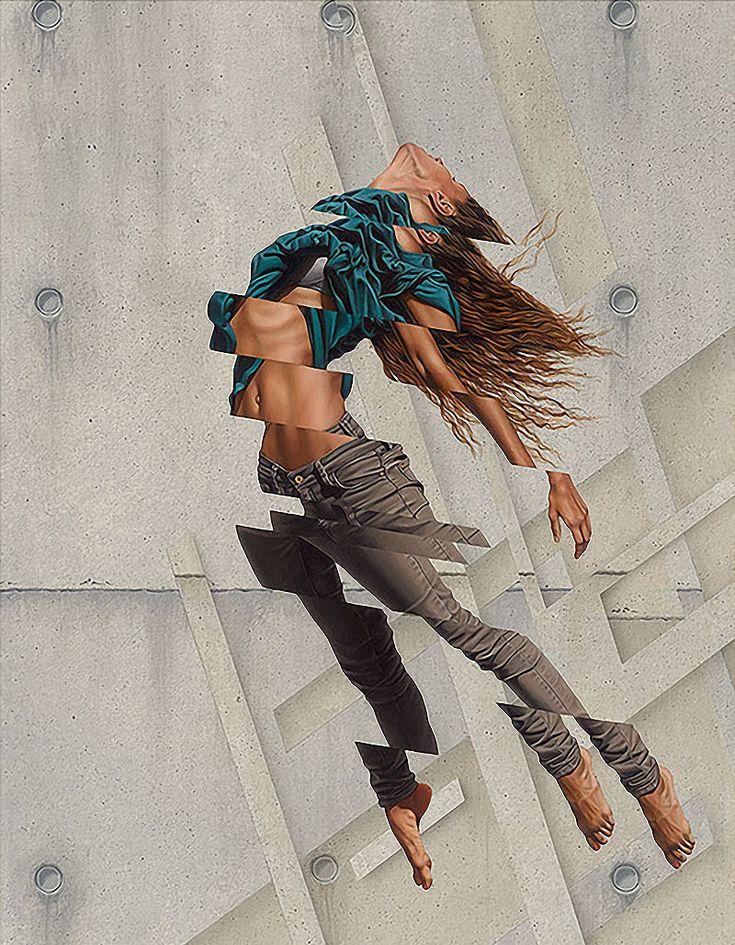 Смешение гиперреализма и абстракции в работах Джеймса Буллоу.