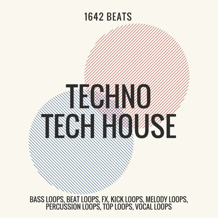 NEW! Techno, Tech House Pack - 1642 Beats (24-Bit WAV LOOPS / SAMPLES) #Unbranded
