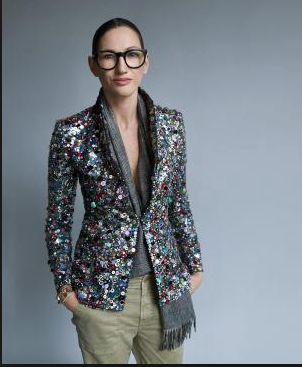 This blazer and her make up!