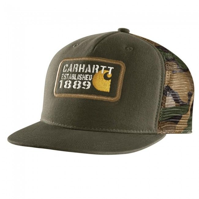 Carhartt Gaines Cap - Army Green. #Carhartt Graphic embroidered on front.