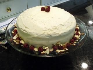 almond raspberry layer cake print a moist and dense almond cake ...