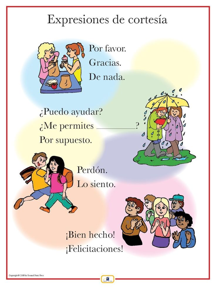 Expresiones de cortesia -- FREE to print  Online Spanish programs for children: professional and personal sonja@spanish-school-herradura.com