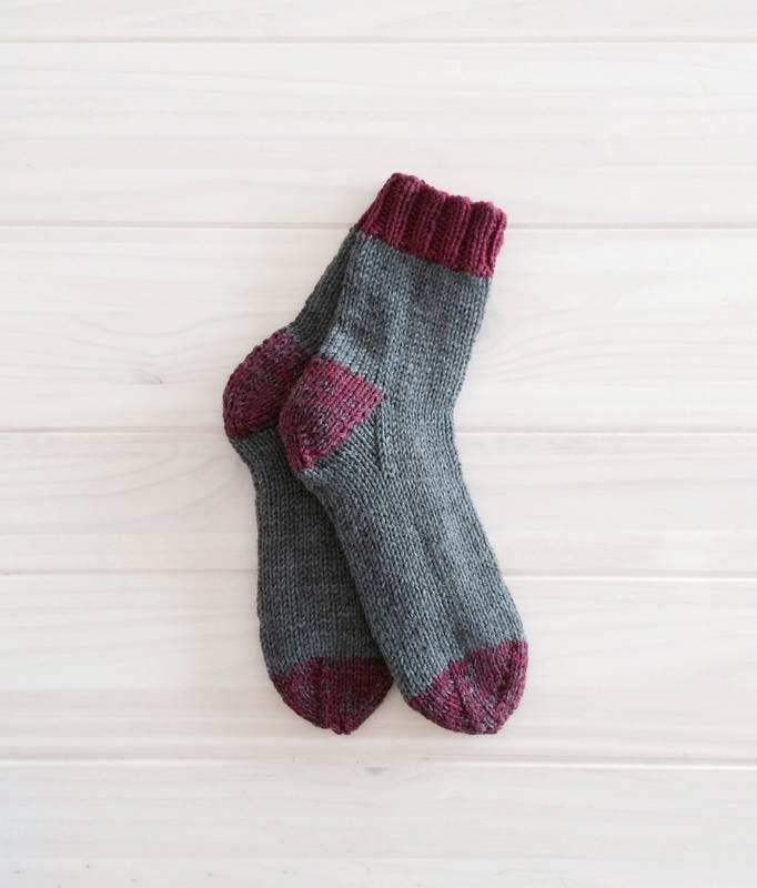 Men's wool socks, warm winter socks for him, hand knit socks, reinforced heel. by bluegreystudio on Etsy