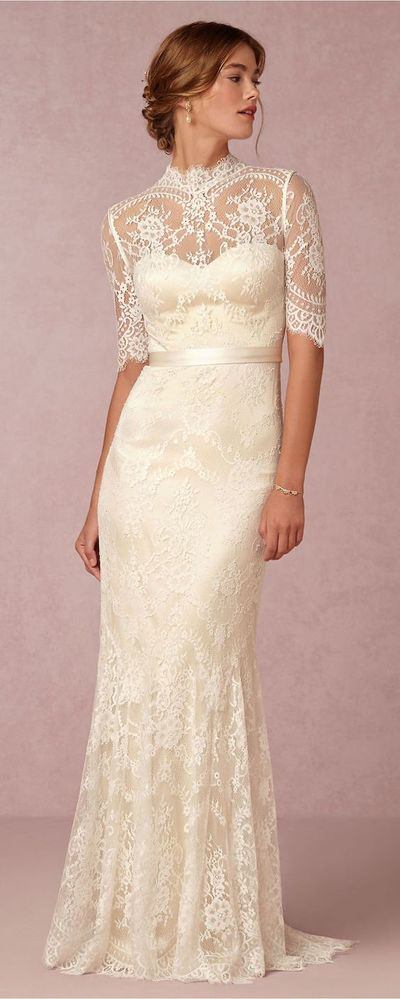 Middle Sleeve Lace Sheath Bridal Dress, Sexy Party prom dresses 2017 new style  fashion evening gowns for teens girls,9306