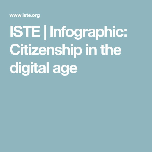 ISTE | Infographic: Citizenship in the digital age