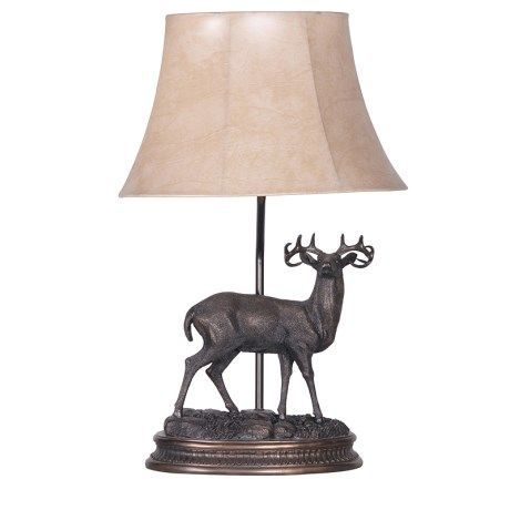 Stag Lamp Scottish Lamp Stags Head Lamp Table Lamp