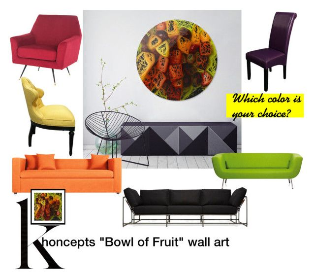 "Khoncepts ""Bowl of Fruit Art"" by khoncepts on Polyvore featuring interior, interiors, interior design, home, home decor, interior decorating, Stephen Kenn, Artifort, Blu Dot and Monsoon"