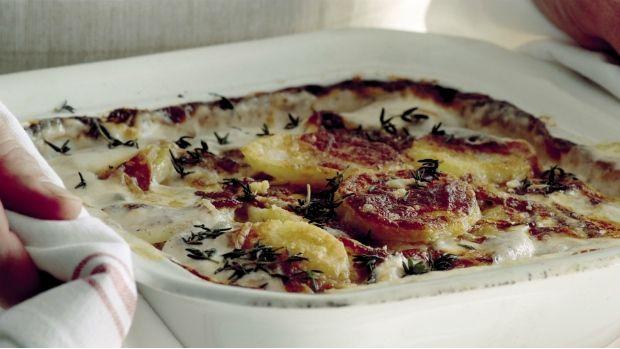 Krémové brambory  s karamelizovanou cibulí Foto: