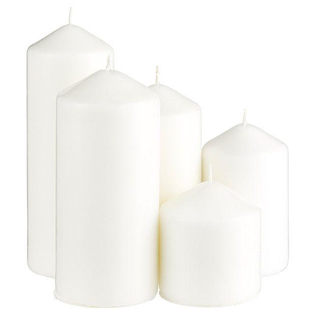 Set Of 5 Pillar Candles - White   Target Australia