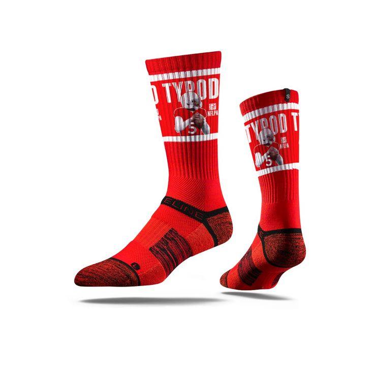 NFLPA - Tyrod Taylor, Red - Strideline Crew Socks