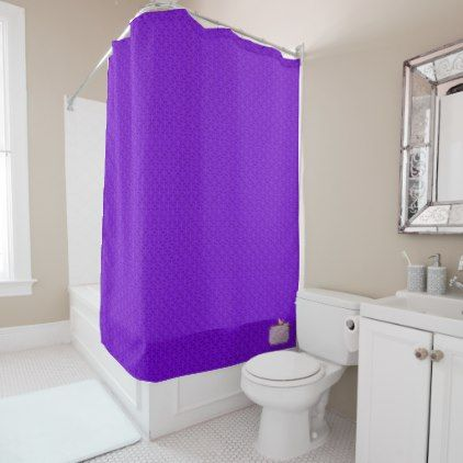 Purple Flat Patterned Popular Shower Curtain - shower gifts diy customize creative