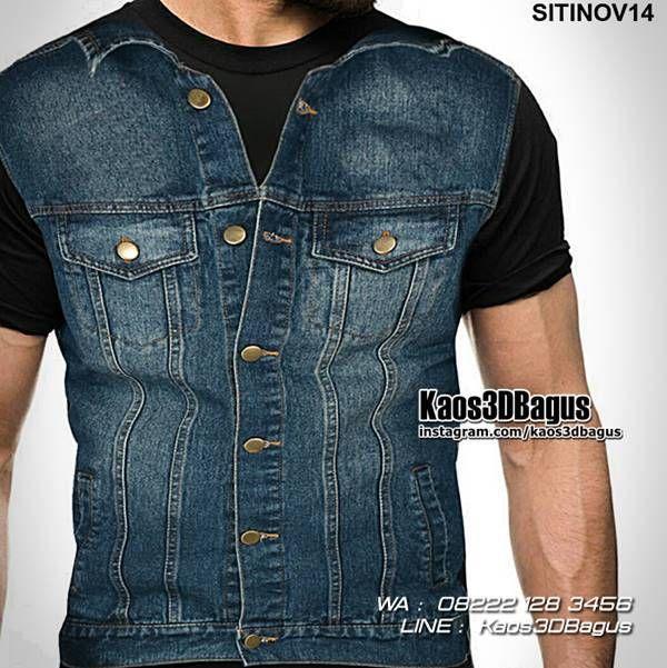 Kaos JAKET JEANS, Kaos Rompi Blue Jeans, Kaos3D Gambar Rompi, https://kaos3dbagus.wordpress.com, WA : 08222 128 3456, LINE : Kaos3DBagus