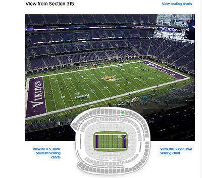 #tickets 2 Tixs Minnesota Vikings vs San Francisco 49ers Section 315 Row 8 Seats 1 please retweet