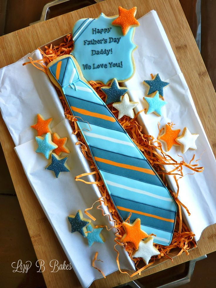 Lizy B: Father's Day Cookie Tie Tutorial!