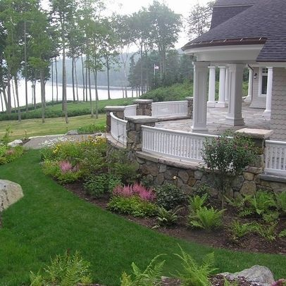 17 best images about landscaping foundation on pinterest for Foundation garden designs
