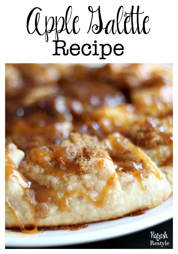 Apple Galette Recipe - This will become your go to dessert, change up the fruit, it's so easy!