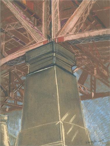 Grace Cossington Smith (1892 - 1984)   Post- Impressionism  Bridge pillar - 1929