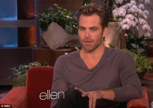 Talking business: The actor appeared on Ellen's talk show to discuss his latest movie in which he stars alongside Keira Knightley