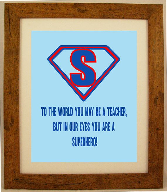 Personalised Super Hero Teacher Appreciation Word by ArtyAlphabet, £7.50