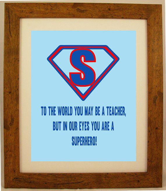 Personalised Super Hero Teacher Appreciation Word by ArtyAlphabet, £7.50