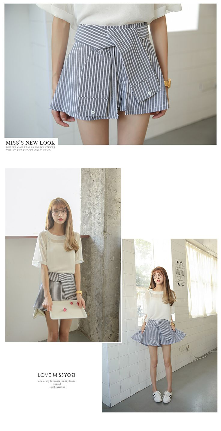 Spring and summer new Korean Hong Kong flavor was thin wild bars tutu skirt culottes high waist casual shorts fake two - Taobao global Station