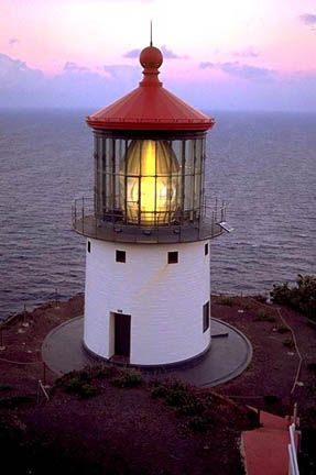 Makapuu Point Light, located on the Hawaiian island of Oahu, has the largest lens of any lighthouse in the United States. It was listed to the National Register of Historic Places in 1977.