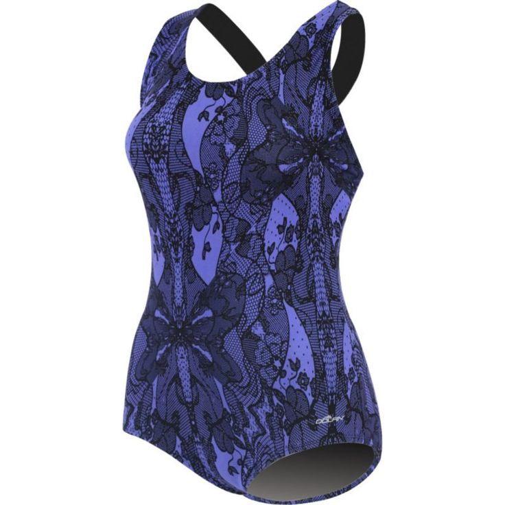 Dolfin Women's Printed Conservative Lap Racerback Swimsuit, Size: 8, Purple