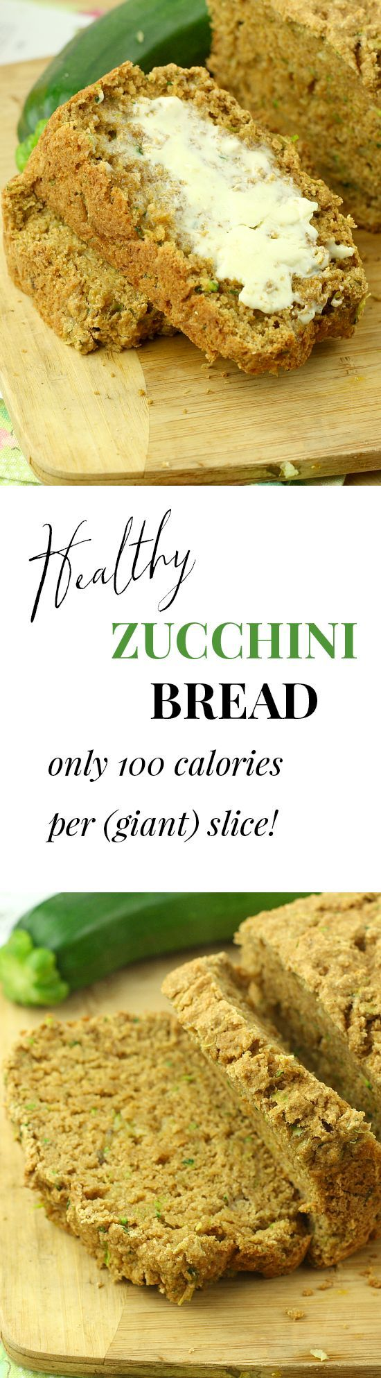 The BEST zucchini bread EVER. Only 100 calories for a giant slice! I made this for a party and everyone raved about it.