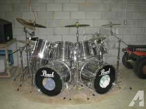 9 pc Pearl Drumset - $1200 (taylorsville)