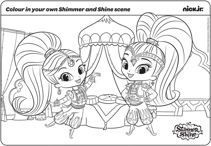 344 best Shimmer & Shine Printables images on Pinterest