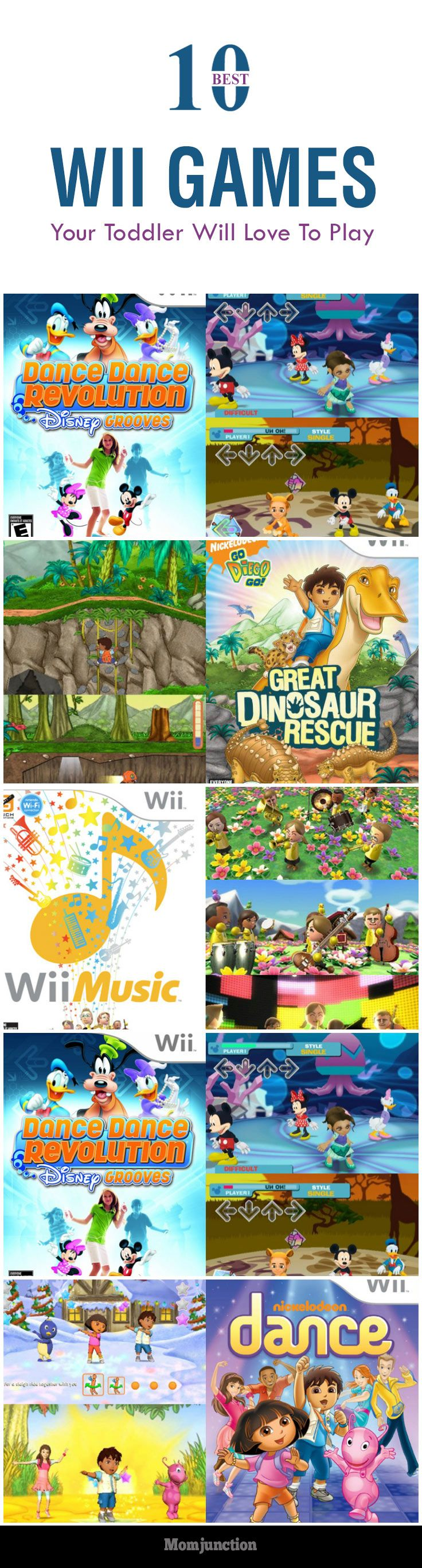 10 Best Wii Games Your Toddler Will Love To Play:  Here is our collection of 10 best Wii games for #Toddlers