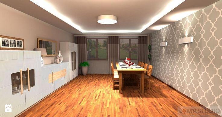 Dom jednorodzinny 2 - Jadalnia, styl glamour - zdjęcie od LAMPSTUDIO Projektowanie oświetlenia i wnętrz