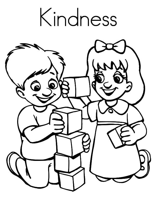 Kindness Coloring Pages - Best Coloring Pages For Kids Friendship Theme,  Preschool Coloring Pages, Preschool Friendship