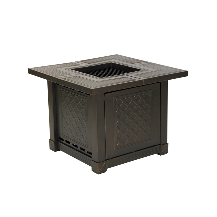 Living Accents® Herrington Square Decorative Table Gas ... on Propane Fire Pit Ace Hardware id=73798