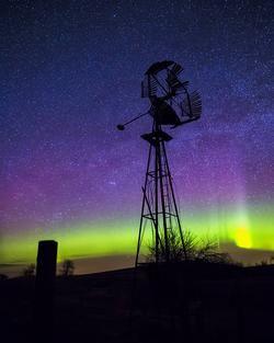 Windmill Aurora in Saskatchewan