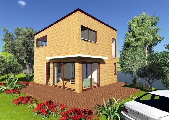 Casa de lemn Toulouse - modele case de lemn Casa in legno Toulouse - modello casa in legno Toulose wooden house project www.transval.ro