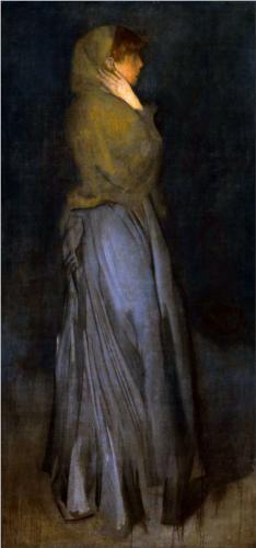 James Abbott McNeill Whistler (American, 1834-1903)  Arrangement in Yellow and Grey