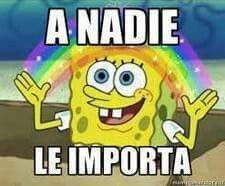 A nadie le importa that means nobody cares