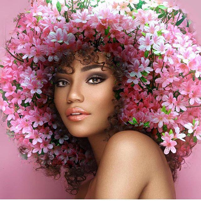 Pierre Jean-Louis enaltece a beleza do cabelo afro com fotomontagens