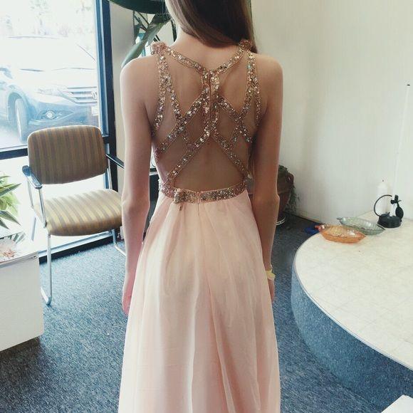 Faviana Dresses - Faviana 7759 soft peach gown