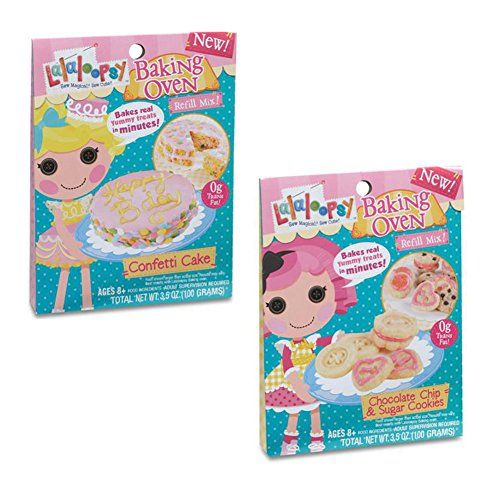 Lalaloopsy Baking Oven Refill Mix Cookies And Cake Bundle Set Of 2, 2015 Amazon Top Rated Real-Food Appliances #Toy