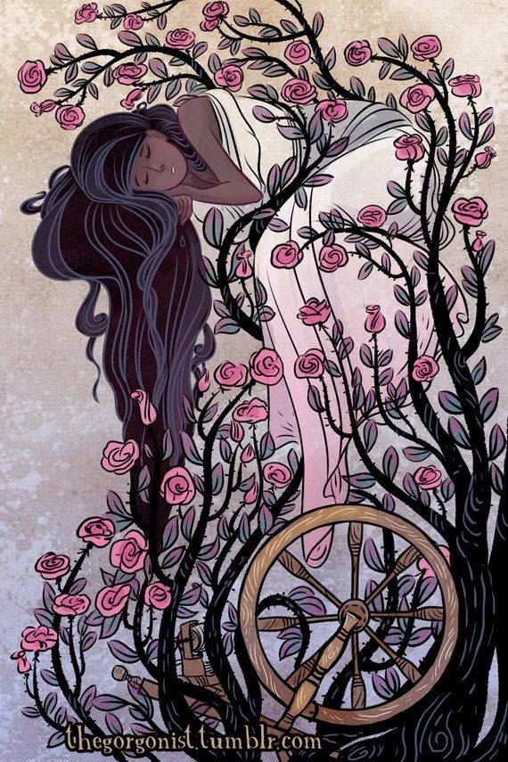 Briar Rose Fairy Tale Illustration 8x12 Products Fairy Tales