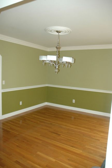Two Toned Room Example Dining Idea