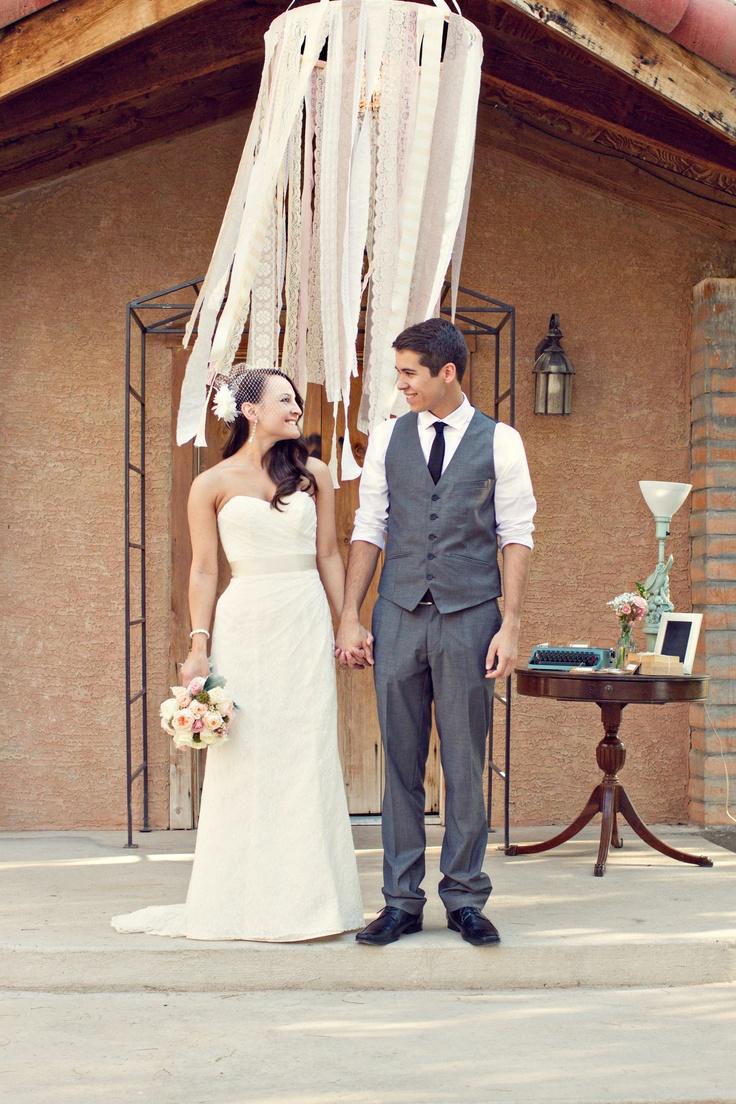 Vintage wedding groom vest - Bride Groom Vintage Wedding