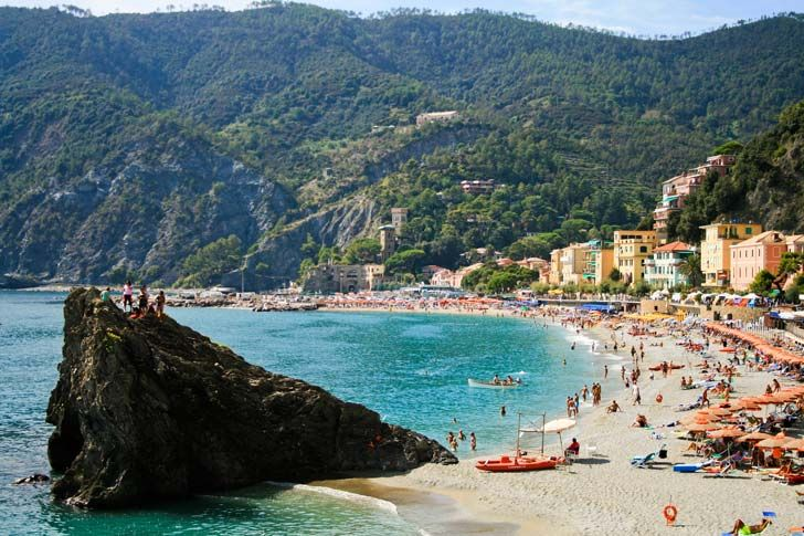 #Spiagge #Liguria #top5 Spiaggia di Monterosso, Cinque Terre, in uno scatto di Corey Harmon (CC)