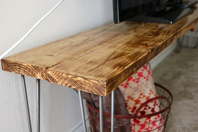 Diy Tv Stand Bench Table Tutorial Diy And Craft
